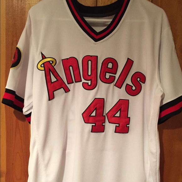 brand new a79f6 b7923 Throwback Reggie Jackson Angels baseball jersey